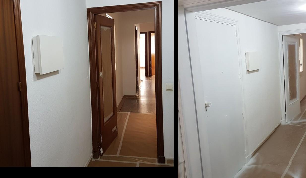C mo pintar una puerta de madera - Como pintar una puerta de madera con brocha ...