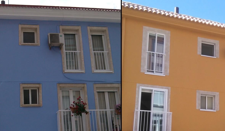 Fachadas pintadas - pintorist.es