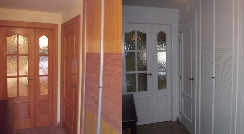 Puertas lacadas - Como lacar un mueble de madera en blanco ...